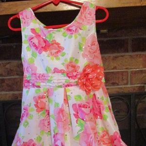 George Girl's Easter Floral Dress w/Poufy Skirt